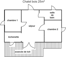 Interior shot of Chalet 5 people
