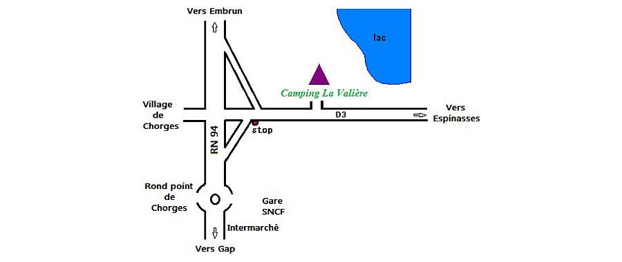Plan d'accès La Valière
